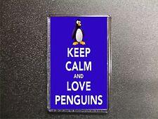 KEEP CALM AND LOVE PENGUINS FRIDGE MAGNET BIRTHDAY GIFT