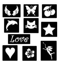 Girls Glitter or Temporary Ink Tattoo Stencils... Party,Birthday, Fundraiser set