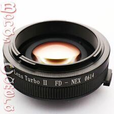 Zhongyi Focal Reducer Booster Turbo II Canon FD Lens to Sony E Adapter NEX A6000