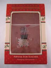 1988 Enesco Ornament Christmas Airmail for Teacher Mouse Hang Gliding 489425 NIB