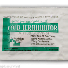 100 Cold Terminator Max Pills Tablets First Aid Emergency Survival Refill Kits