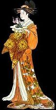 Japanese Lady~counted cross stitch pattern #1150~Oriental Asian Graph Chart