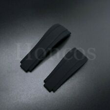 Rolex Replacement Silicone Rubber Oysterflex Watch Band Strap 20mm Black