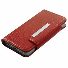 Red Leather Wallet Card Holder Case Cover Folio Flip Pouch for iPHONE SE 5 5S