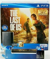 Sony PlayStation 3 500GB Black Console The Last of Us Bundle Black PS3 System +
