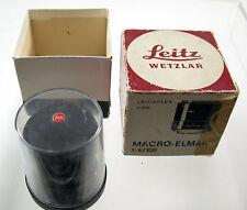 LEICA Macro-Elmar R 4/100 100 100mm F4 4 head Kopf TOP boxed adapt. M A7 EOS MFT