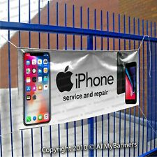 Cell Phone Banner iPhone service and repair Custom text sign fix