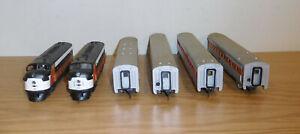 HO GAUGE SCALE NEW HAVEN F3 'AA' DIESEL ENGINE STREAMLINED PASSENGER 4-CAR TRAIN