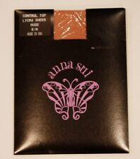 ANNA SUI Hosiery PANTYHOSE Lycra CONTROL TOP Sheer NUDE S/M Free Shipping