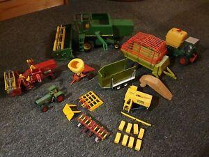 metall Spielzeug 1960 Mähdrescher Trecker Anhänger