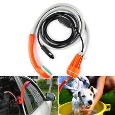 Portable Outdoor Handheld Shower Head Camping Travel 12v Car Water Pump Bucket