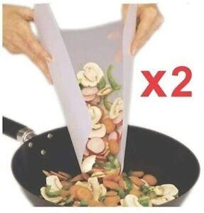 Plastic Chopping Board, 2 Pack Non-Slip Flexible Cutting Board, Dishwasher Safe