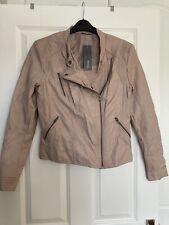 Blush Faux Leather Jacket Size 10 (38) BNWT