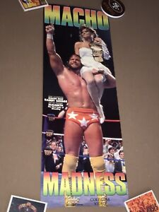 WWF POSTER - RANDY SAVAGE POSTER - WRESTLEMANIA POSTER - SUMMERSLAM POSTER -1988