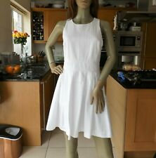 *A|X ARMANI EXCHANGE* Ladies White FIT & FLARE COTTON DRESS uk8 EANC rrp£260