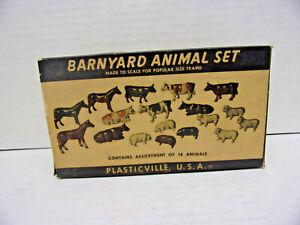 NOS Plasticville 18 Piece Barnyard Animal Set