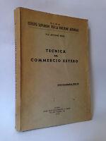 TECNICA DEL COMMERCIO ESTERO - A.Renzi [1956]