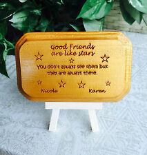 Friendship Personalized Wood Sign on stand for awesome birthday gift! Luv ur BFF