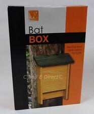 WESTWOODS in legno BAT BOX NIDO di Nidificazione Casella Habitat Artificiale Appollaiarsi di NUOVO