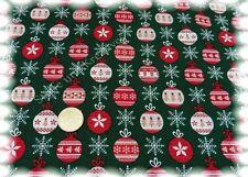 Weihnachtskugeln Weihnachtsstoff grün Baumwolle 50 cm Weihnachtsstoffe
