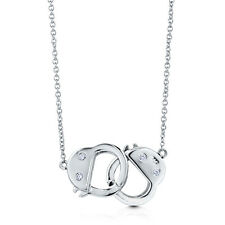 BERRICLE Sterling Silver CZ Handcuffs Fashion Pendant Necklace