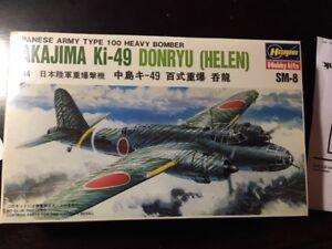 """HASEGAWA 1/144 NAKAJIMA KI-49 DONRYU (""""HELEN""""), SHRINKWRAPPED, TOTALLY NEW !!"""