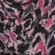 Pure Silk Hugo Boss Short Sleeve Animal Print Cowl Neck top sz8