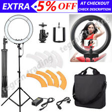 "19"" 5500k Dimmable Diva LED SMD Ring Light Diffuser Mirror Stand Make up Studio"