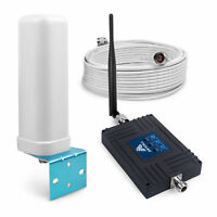 850/1800/2100MHz Signal Booster Repeater 70dB 2G 3G 4G Amplifier for Voice Data