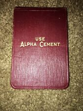 Use Alpha Cement Portland 1927 Notepad Calendar