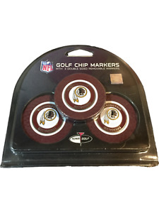 NFL Golf Chip Markers 3 Double Sided Removable Markers Washington Redskins