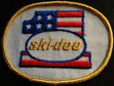 "VINTAGE SKI-DOO #1 SNOWMOBILE PATCH NEW 3"" X 4"" NICE"