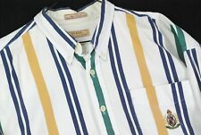 Vintage 90s Guess Jeans Striped Button Up Shirt T Color Block Mens Xl Oversize