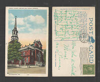 1928 CHRIST CHURCH SECOND AND CHURCH STREETS PHILADELPHIA PA POSTCARD