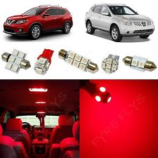 6x Red LED lights interior package kit for 2008-2014 Nissan Rouge NR1R