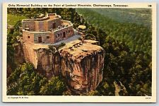 Ochs Memorial Building on of Point Lookout Mountain, Tennessee Linen Postcard