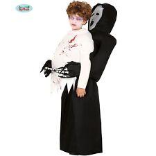 Enfant Déguisement Halloween Gonflable Faucheuse Dead Noir/Blanc Neuf Fg