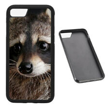 Racoon Animal RUBBER phone case Fits iPhone