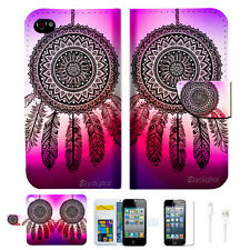 Dream Catcher Wallet Case Cover For Apple iPhone 4 4S -- A027