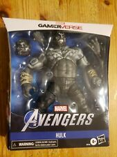 "Marvel Legends GAMERVERSE HULK 8"" Figure Grey Avengers Exclusive 6"" Series"