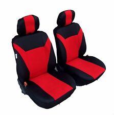2 AVANT Housse de siège sièges la valeur rouge noir pour BMW FORD OPEL KIA