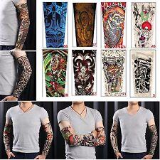 6pcs Nylon Fake Tattoo Sleeves Arm Stretch Cool Temporary Fr Men Women Halloween