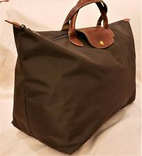 Longchamp X Large Foldable Travel Bag Brown Nylon Made in France