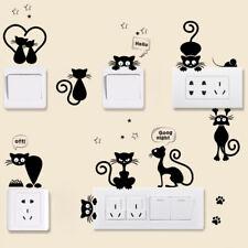 Lichtschalter Steckdosen Katze Aufkleber Sticker Tattoo Wandtattoo Dekor