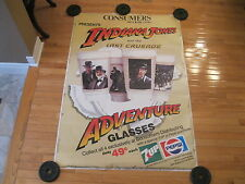 RARE-1989 INDIANA JONES&CONSUMERS DISTRIBUTING PEPSI HUGE STORE DISPLAY-POSTER