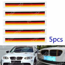 5 PCS Front Grill Grille Lining Strips Sticker Decal German Flag Para BMW