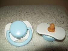 TINY PREMMIE  WHITE/BLUE   NON MAGNETIC  DUMMY (TINY BALL MOUTH PIECE)  4/REBORN