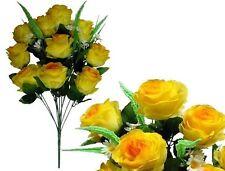"""23"""" Yellow Emperor Rose Bouquet Wedding Party Home Decor Artificial SilkFlower"""