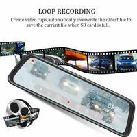10'' Full Screen HD 1080P Dual Lens Car Mirror DVR Dash Cam Recorder&Rear Camera