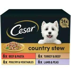 24 x 150g Cesar Country Kitchen Dog Food Trays Special Selection in Gravy